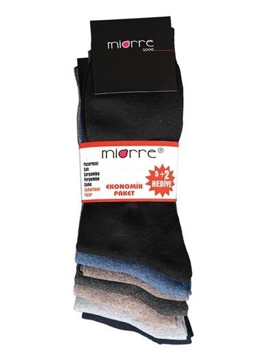 Miorre 7'Li Klasik Çorap Renkli